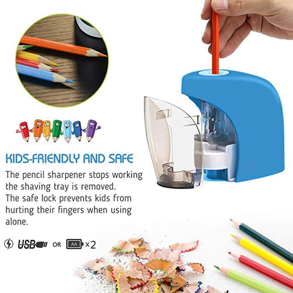 Luyao Taille-Crayon /électrique Taille-Crayon Automatique Taille-Crayon Etudiant Fournitures dapprentissage Accessoires Crayon