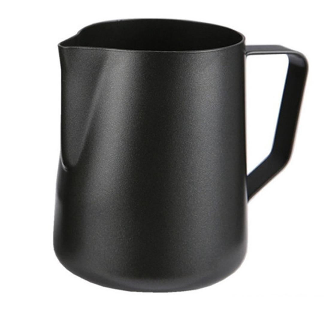 Bomdes 350ML Barista Espresso Coffee Frothing Tea Milk Frothing Jug--Black Hao Tech