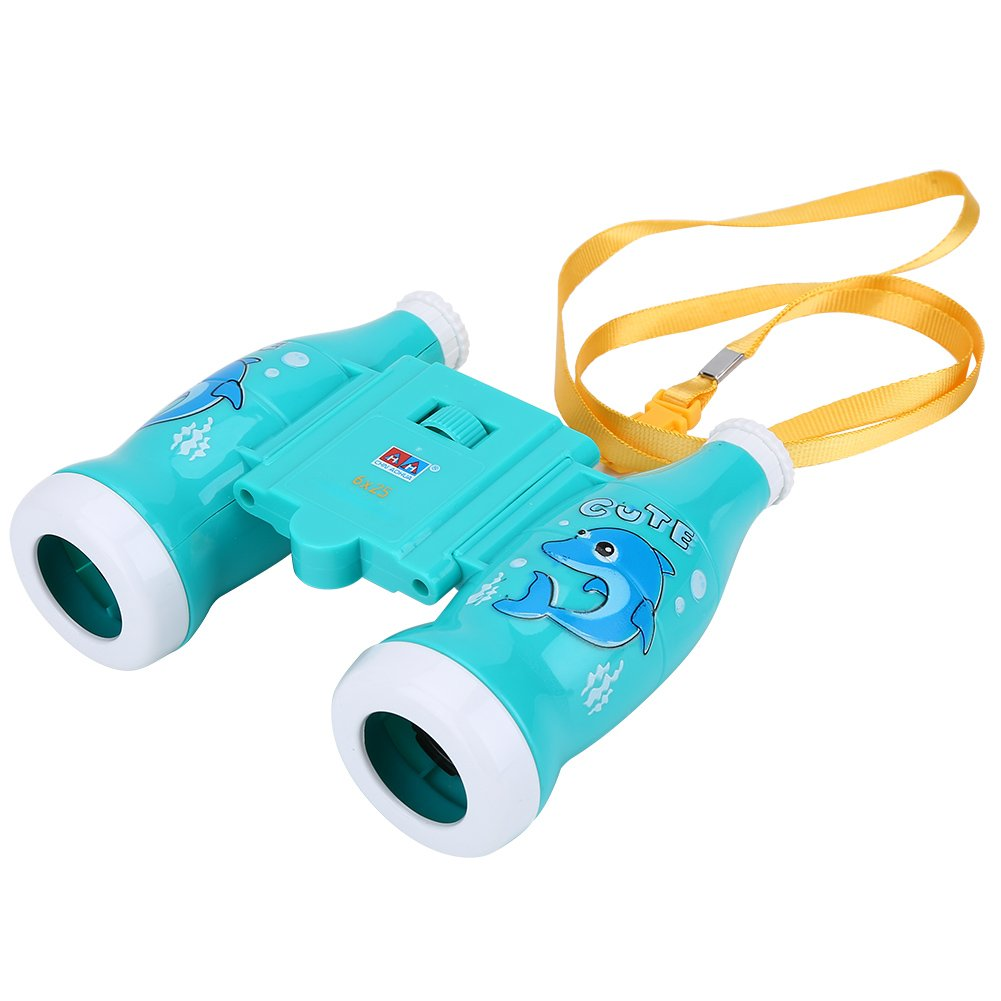 Children Toy Binoculars 6X Magnification Educational Binoculars for Kids Learning Gift ( Color : Blue ) VGEBY