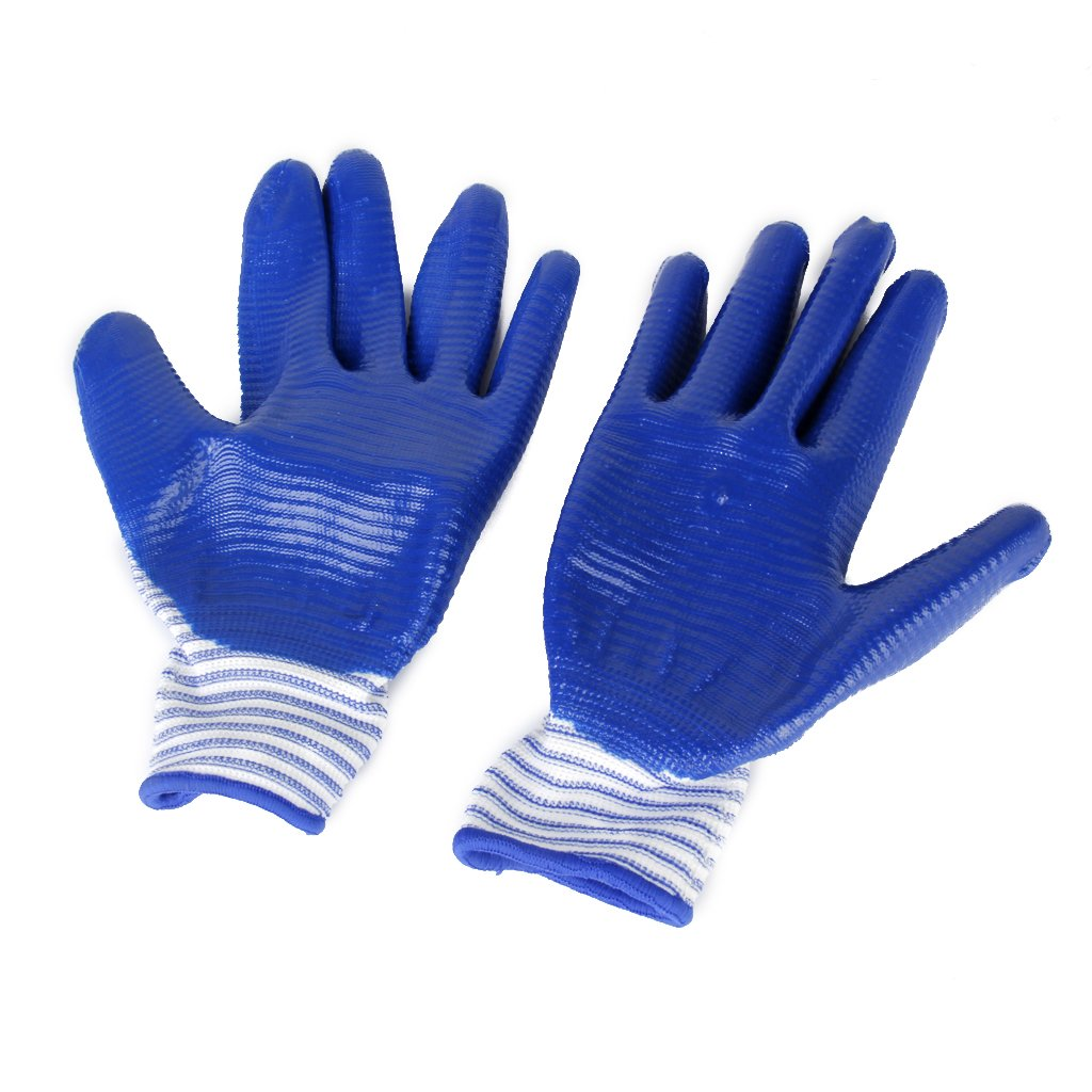 Protective Gloves Bite-proof for Hamster Bite (Blue Zebra-stripe) Generic