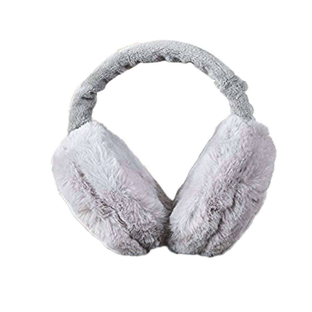YX Foldable Women's Plush Earmuffs Winter Lined Trim Ear Muffs Size : One size )