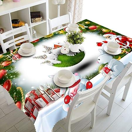 XOWP Mantel Año Nuevo Navidad Mantel Cocina Comedor Decoraciones para La Mesa Hogar Rectangular Fiesta De La Mesa Cubre Adornos De Navidad, 1,152X228 Cm: Amazon.es: Hogar