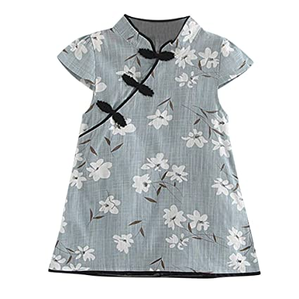 7e420224807dc Amazon.com: ❤ Mealeaf ❤ Toddler Kids Baby Girl Floral Midi ...