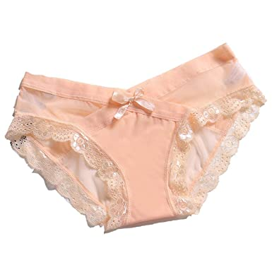 369fc35793 Kimdera Sexy Lingerie for Women Lace Panties Bowknot Thongs Seamless Underwear  Briefs  Amazon.co.uk  Clothing