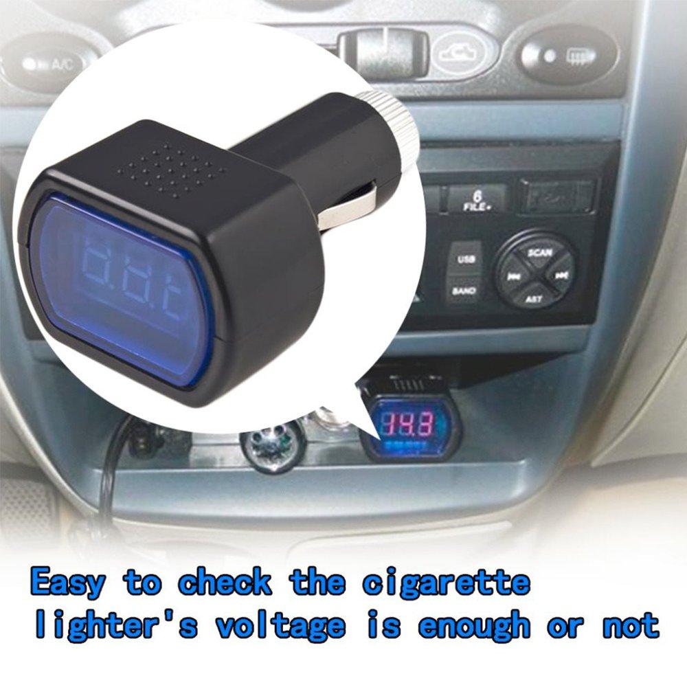 Pr/üfger/ät f/ür Zigarettenanz/ünder Mit LED Display Ideal f/ür 12V /& 24V Autobatterien Runfon Kfz-Spannungstester