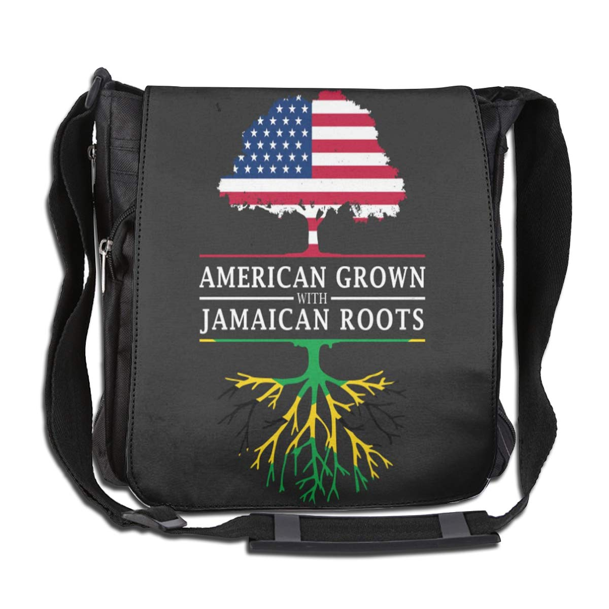 Jamaican Grown Roots Fashion Diagonal Single Shoulder Workout Bag