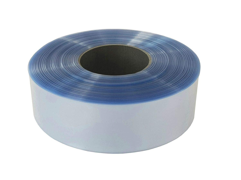 Farbe:Transparent Gr/ö/ße:30 mm Farbwahl 2m Akku Schrumpfschlauch PVC von 20mm bis 200mm Flachma/ß