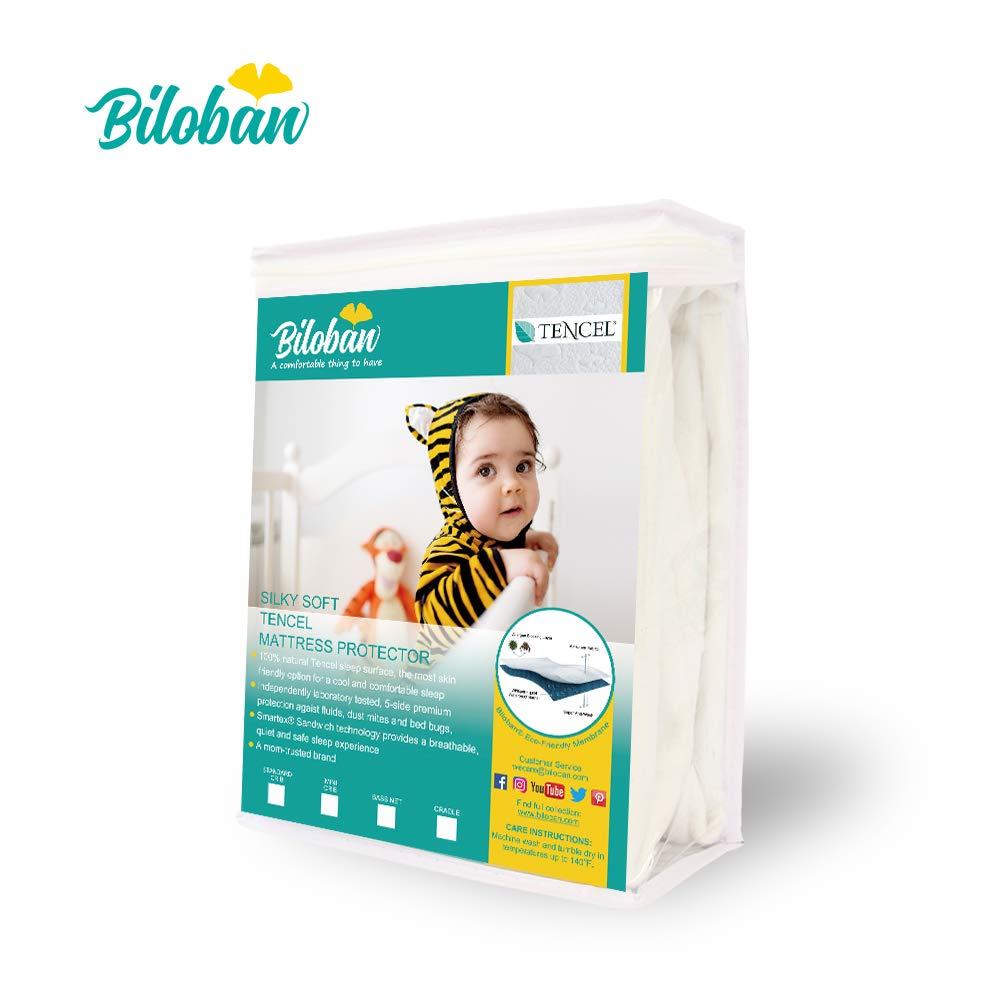 Pack N Play Playard Mattress Pad Sheet - Fully Waterproof Protector for Mini Portable Crib Mattress by Biloban