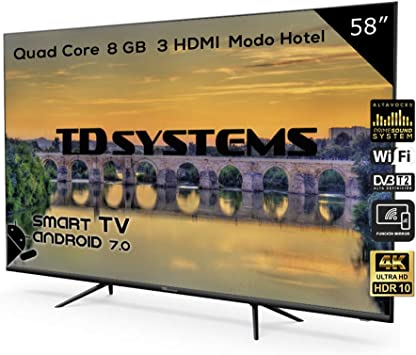 Televisor Led 58 Pulgadas Ultra HD 4K Smart, TD Systems ...