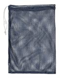 Sports Equipment Best Deals - Champion Sports Mesh Equipment Bag (Navy, 12 x 18-Inch)