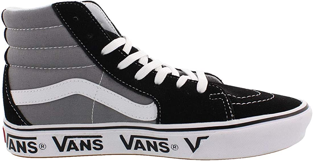 Vans Kids Classic Slip-on, Baskets Mode Mixte Bébé Noir Gris Givré
