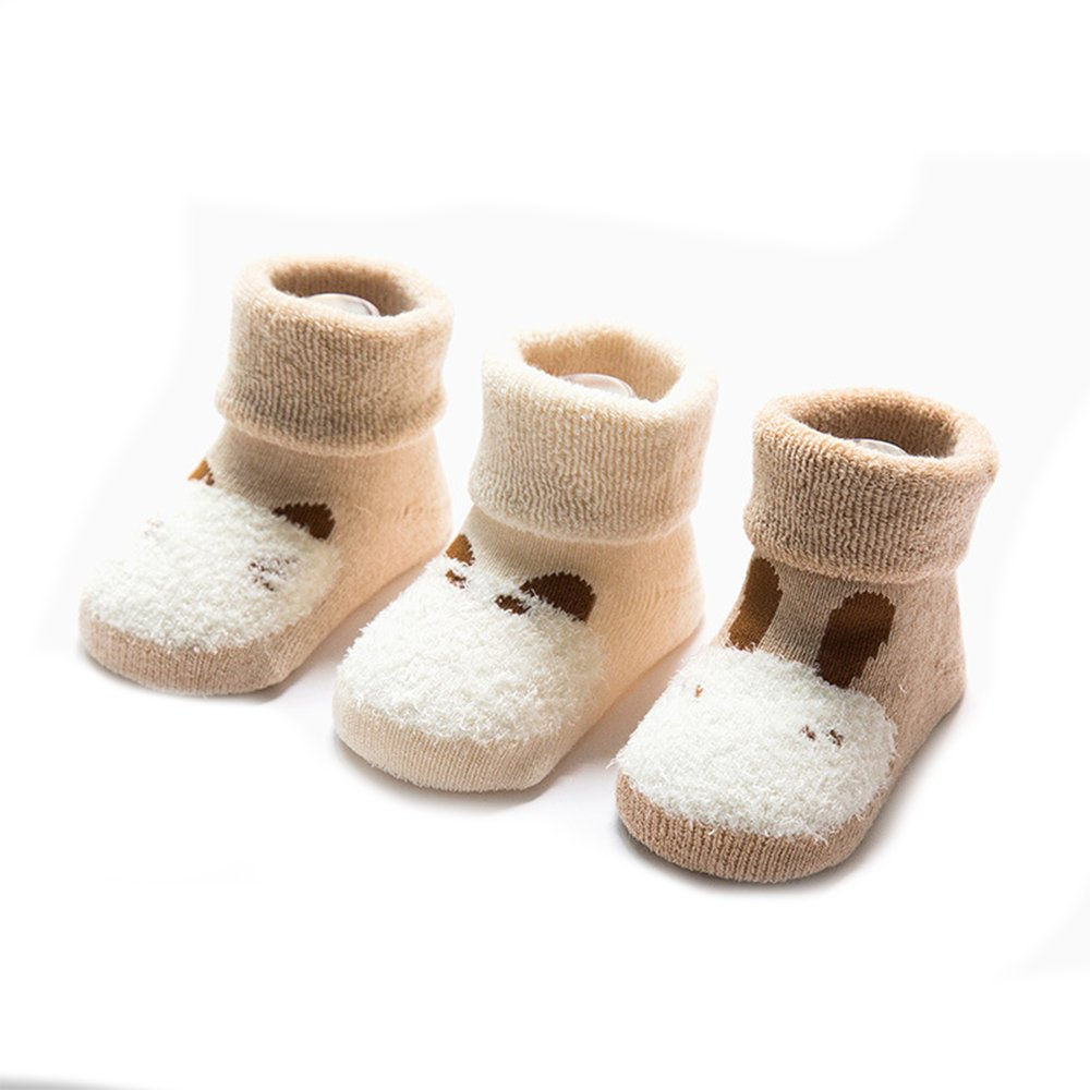 FQIAO Cute Long Tube Cotton Socks Thick Warm Autumn Winter Best Gift for Baby