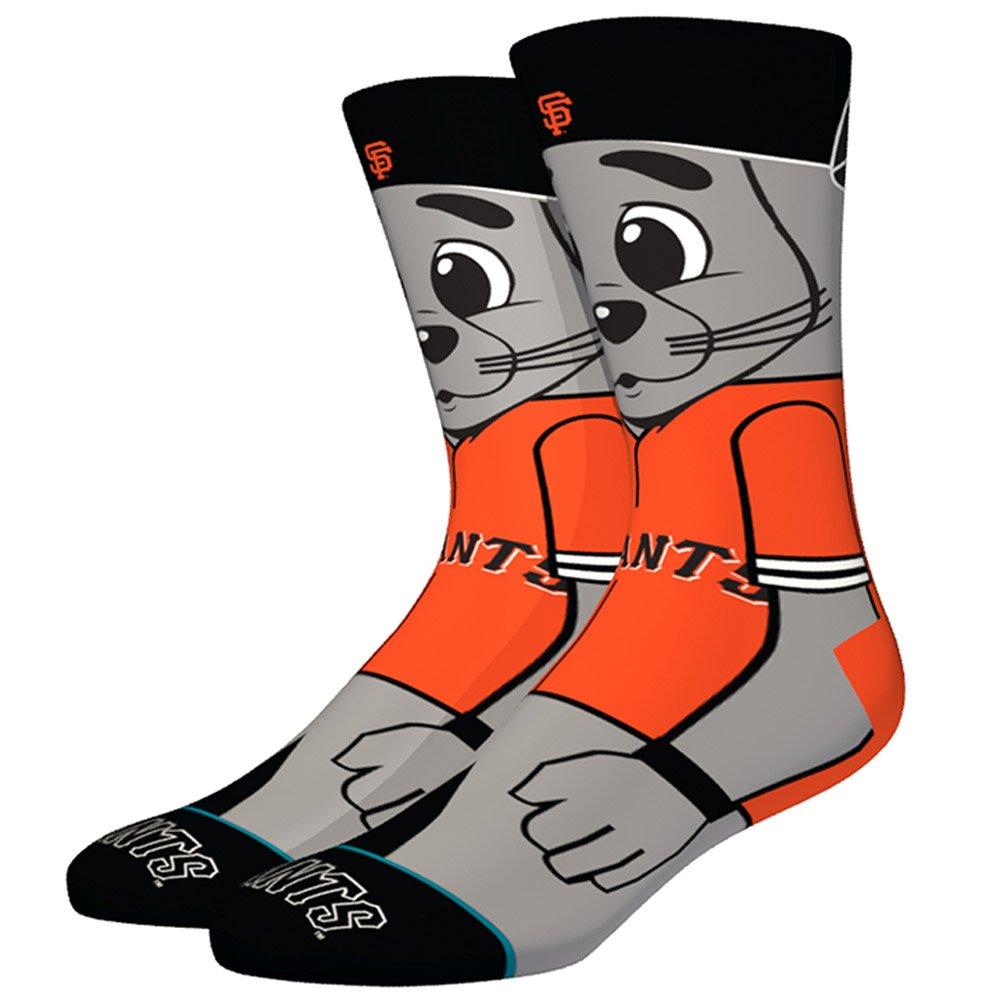 Stance Lou Seal MLB Mascot Socks - Orange Large Stance Socks M545A18LOU