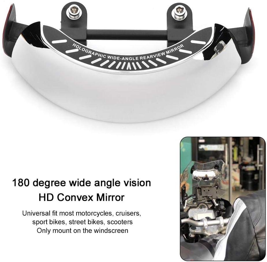 r/étroviseur chrom/é 180 Ultra grand Angle support de pare-brise central universel Duokon R/étroviseur holographique de moto