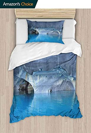 Water Curtain Cave 3D Printing Duvet Quilt Doona Covers Pillow Case Bedding Sets