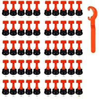 Tegel Levelers Herbruikbaar, 50 stuks tegelnivellering System Kits, tegelafstandhouder voor keramiek, doe-het-zelf…