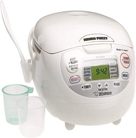 Amazon.com: Zojirushi NS-ZCC10 5-1/2-Cup Neuro Fuzzy Rice Cooker ...