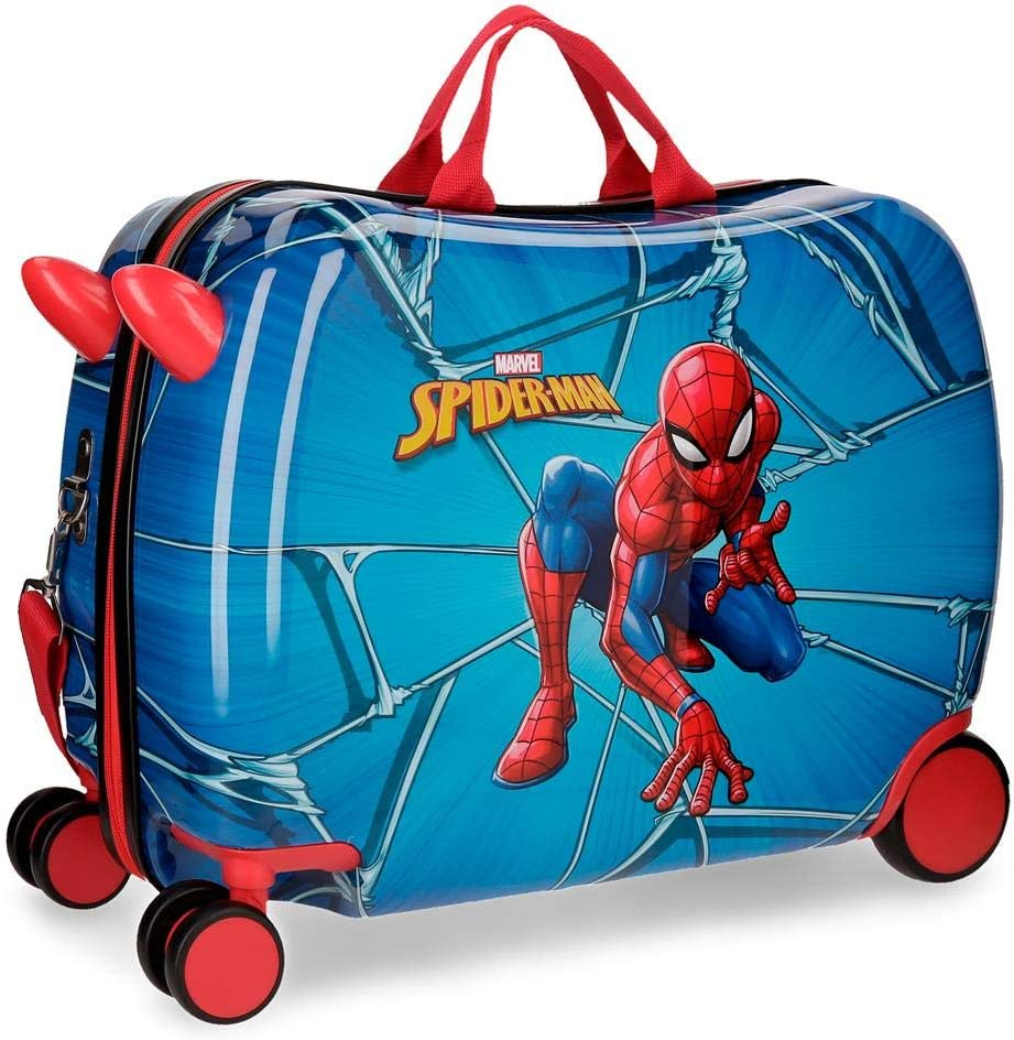 Maleta infantil con ruedas multidireccionales Spiderman Black