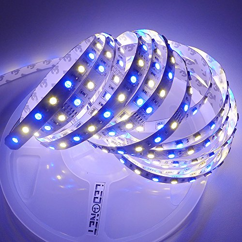 ledenet led strip lights super bright 5m 16 4 ft 5050 360leds 24v rgb and warm white in the. Black Bedroom Furniture Sets. Home Design Ideas