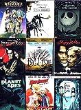 Tim Burton's Best (9-Pack): The Nightmare Before Christmas (2-DVD + Digital Copy, 1993) / Sweeney Todd - The Demon Barber of Fleet Street (2007) / Big Fish (2004) / Beetlejuice (1988) / Sleepy Hollow (1999) / Edward Scissorhands (1990) / Mars Attacks! (1996) / Planet of the Apes (2-DVD, 2001) / Tim Burton's Corpse Bride (2005) (Total 15 hrs 25 min)