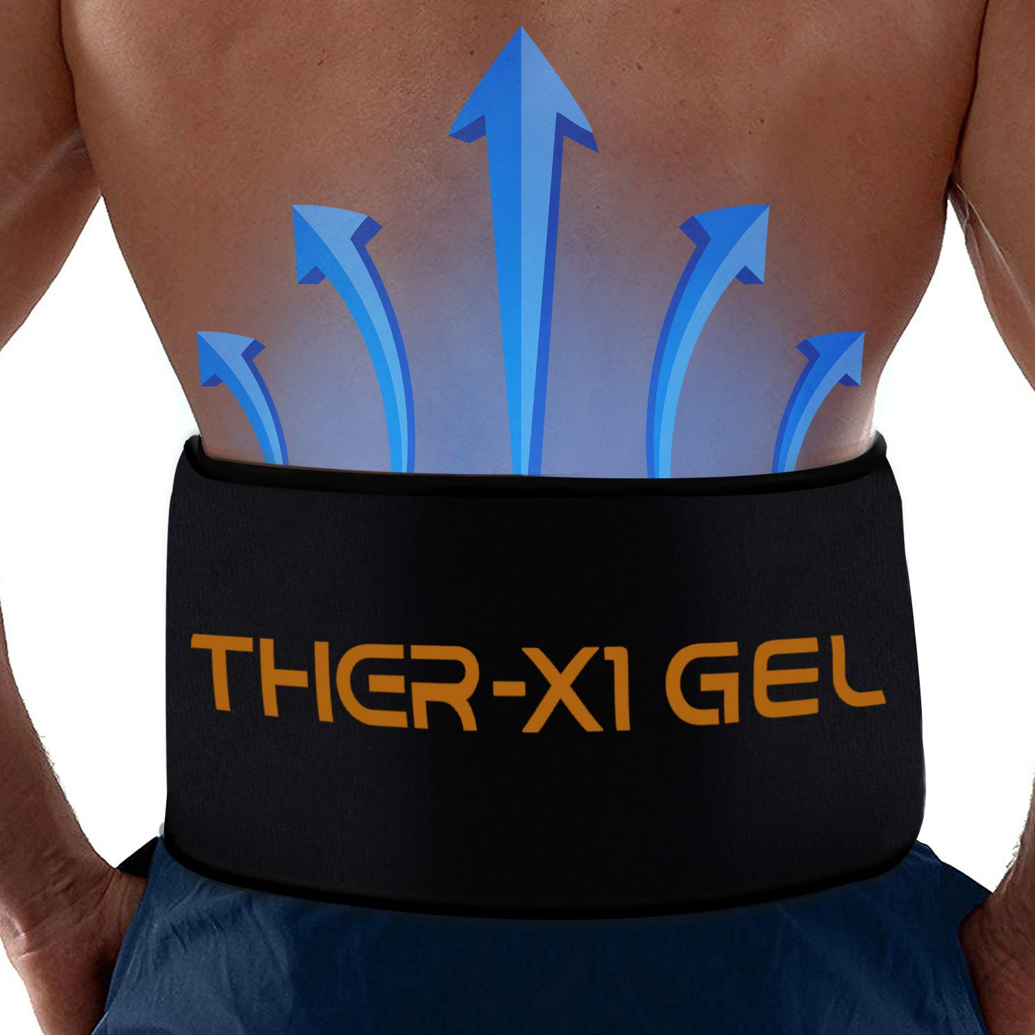 Back Pain Cold Reusable Ice Pack Belt Therapy For Lower Lumbar , Sciatic Nerve Pain Relief Degenerative Disc Disease Coccyx Tailbone Pain Reusable Gel Flexible Medical Grade