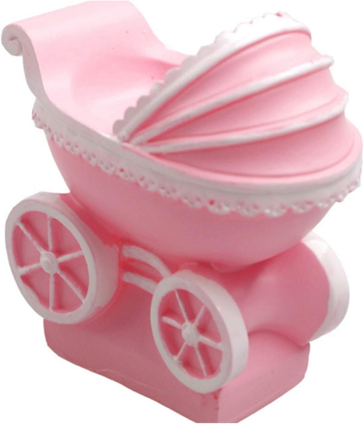 3D Baby Stroller Pram Carriage Baby-car Silicone Mold for Soap Candle Baby Shower Birthday Cake Decorating Fondant Molds Candy Chocolate Gum Paste Moulds