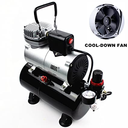 Compresor aerógrafo profesional Abest, con enfriador, un pistón, minicompresor