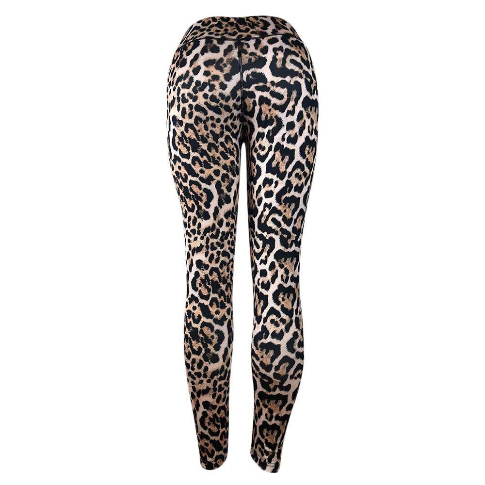 VJGOAL Moda Casual de Las Mujeres de Cintura Alta Sexy Leopardo ...