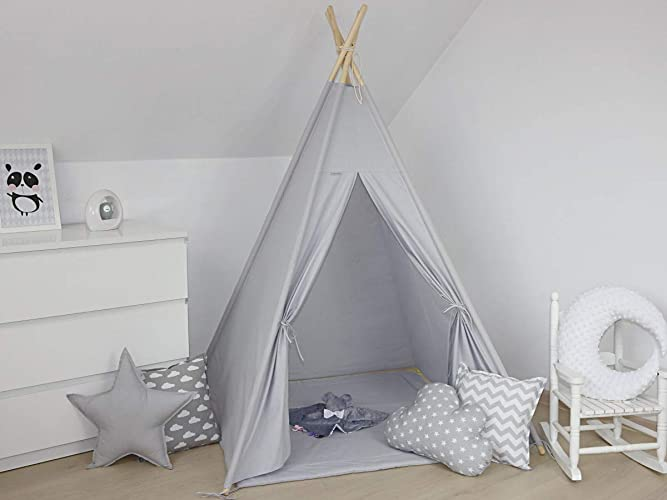 Mayabel Children\'s Teepee- Smooth Grey: Amazon.co.uk: Handmade