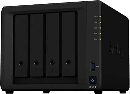 Synology Disk Station NAS, DS420+, 4-Bay; 2GB DDR4