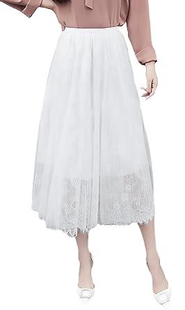 Faldas Mujer Elegantes Primavera Falda De Verano Encaje Cintura ...