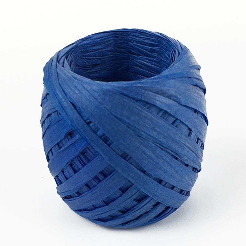 Sapphire Blue Ribbon 20m DIY Scrapbook Gift Roll Wrapping Decorative Supplies Crafts Paper Raffia Eco-Friendly