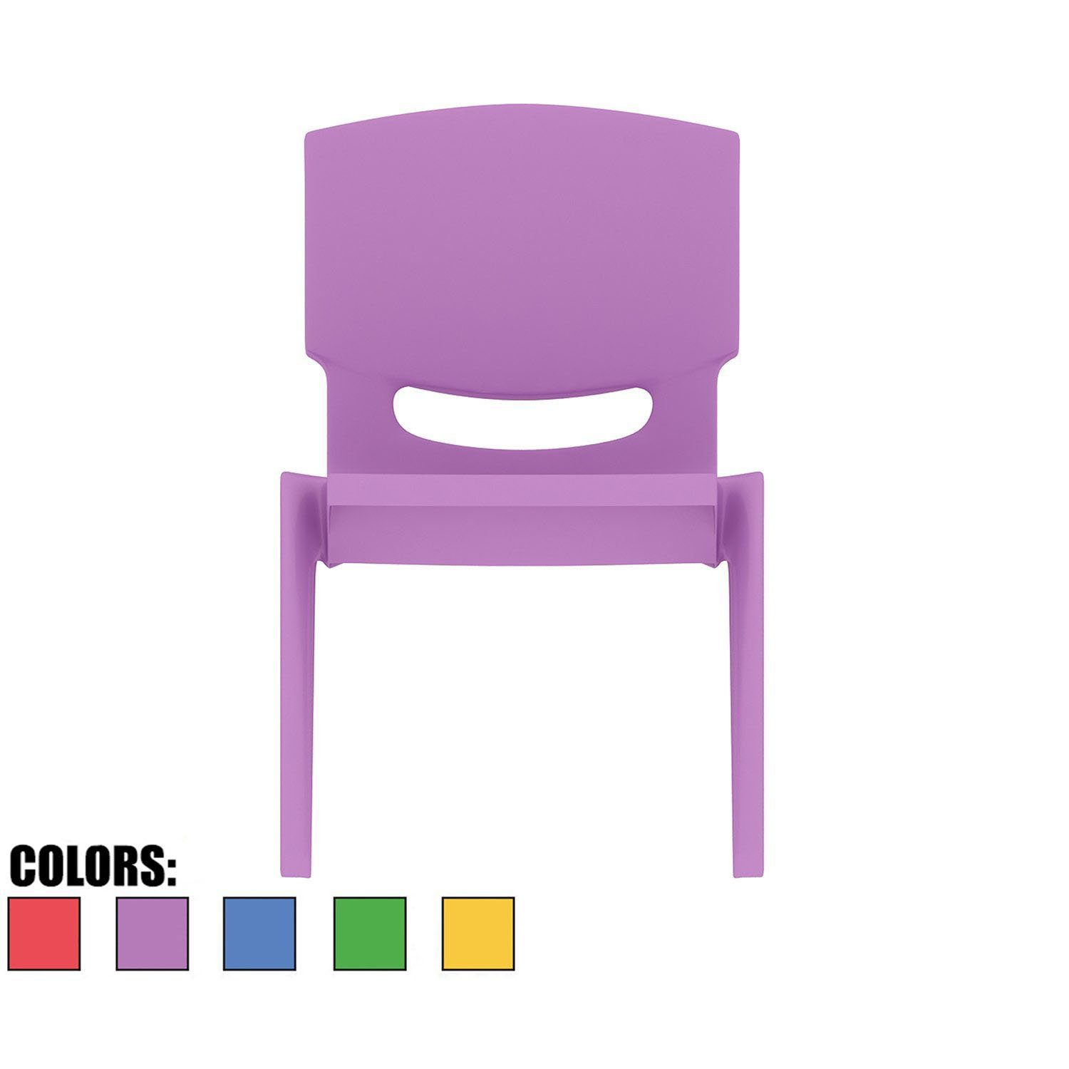 2xhome - Purple - Kids Size Plastic Side Chair 10'' Seat Height Purple Childs Chair Childrens Room School Chairs No Arm Arms Armless Molded Plastic Seat Stackable