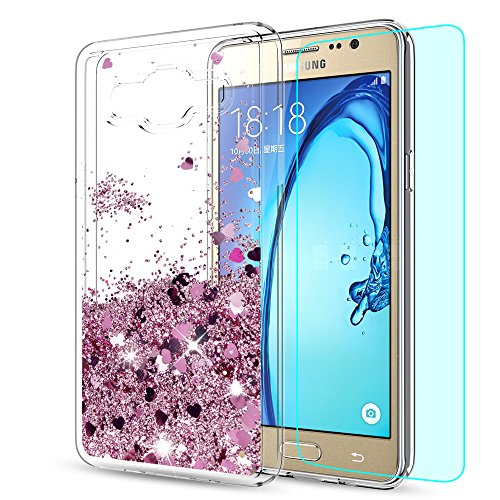 Galaxy On5 Case (G550 G5500) with HD Screen Protector,LeYi Liquid Case with Moving Shiny Quicksand Glitter Cute Design for Girls...  samsung on5 case | Galaxy On5 Poetic Case Review (HD) 61q8Z0DGr4L