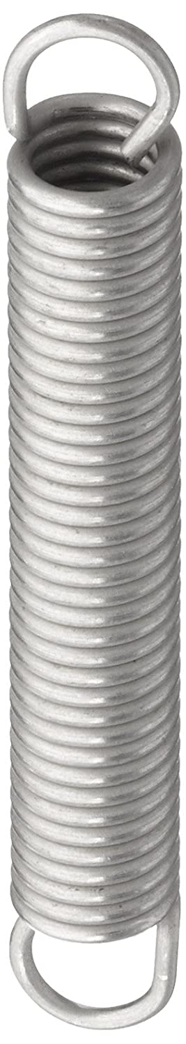 Associated Spring Raymond T41350 Extension Spring 302 Stainless Steel Metric 5.5 mm OD 0.8 mm Wire Size 39 mm Free Length 64.6 mm Extended Length 25.2 N Load Capacity 0.83 N mm Spring Rate Pack of 10
