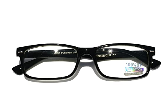0c2ecc88fe0 Image Unavailable. Image not available for. Colour  Casual Fashion Horned  Rim Rectangular Frame Clear Lens Eye Glasses ...