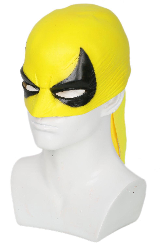 SDT Máscara de Iron Fist Halloween Cosplay Máscara de Cara Mediada Mask Casco Media Cabeza Accesorio de Cosplay Carnaval Navidad Regalo para Fans de Fist ...