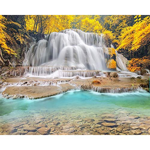 GMYANBZ Large Custom Wallpaper Hd Landscape Mural Wallpaper Cascade Creek Autumn Scenery Pictures Wallpaper for Walls 3D