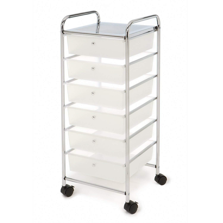 Kiorc 6-Layer Drawer Storage Cart Multi-Layer Debris Storage Cabinet