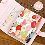 Chris-Wang Elegant Colorful Fresh Style Category Page Day Planner Divider Index Page Tab Cards Notebook Accessories, Match for A6 6-Holes Ring Binders/School Stationery, 5 Sheets/Set