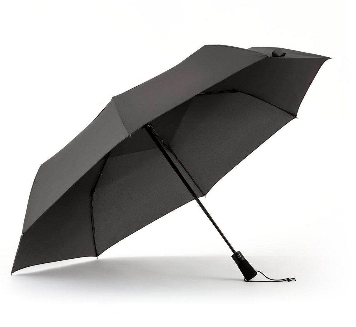ShedRain WindPro Vented Auto Open/Auto Close Jumbo Compact Wind Umbrella: Charcoal