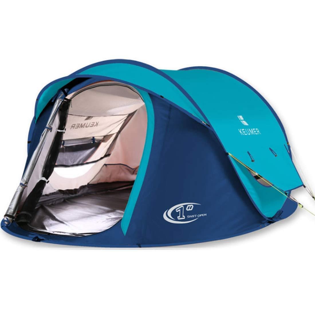 Fepelasi Winddichtes Zelt 3 Personen oder 4 Personen (Farbe : Blau)