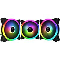 Kit com 3 fans Gamdias Aeolus M2-1203 LITE RGB 120mm