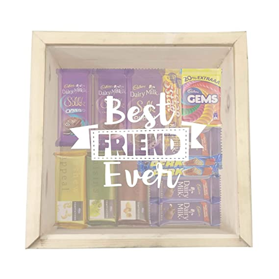 YaYa CafeTM Birthday Gifts For Best Friends Chocolate Gift Hampers Engraved Wooden Box