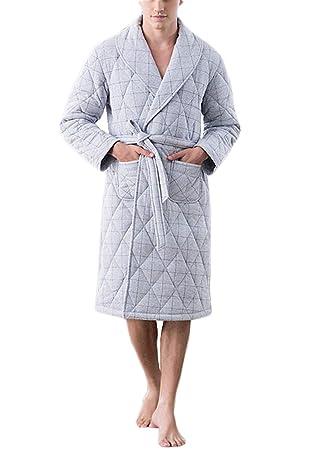 PFSYR Batas de los Hombres, llevando un Pijama cómodo de la Bata de casa Otoño