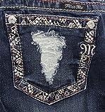 Miss Me Denim Jeans Womens Beads Bootcut 29 Medium Wash JP8498B