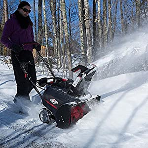 Briggs & Stratton 1696506 Single Stage Snow Thrower with Snow Shredder Technology and Electric Start, 22-Inch