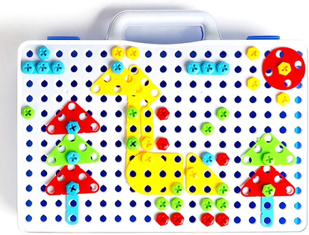 Foxom 237 Stck Mosaik Steckspiele DIY 3D Puzzle Bausteine ...