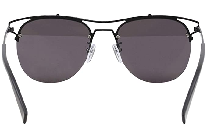 6d384aef16f14 Furla Women s SFU106 SFU 106 530H Black Fashion Pilot Sunglasses 56mm at  Amazon Men s Clothing store