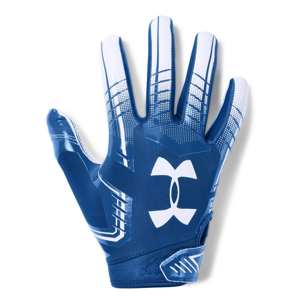 Under Armour Boys' F6 Youth Football Gloves, Royal (400)/White, Youth Small